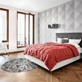 3D-панели в дизайне спального помещения