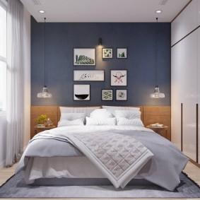 Дизайн маленькой спальни в пастельных тонах
