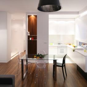 Освещение рабочей зоны в небольшой кухне