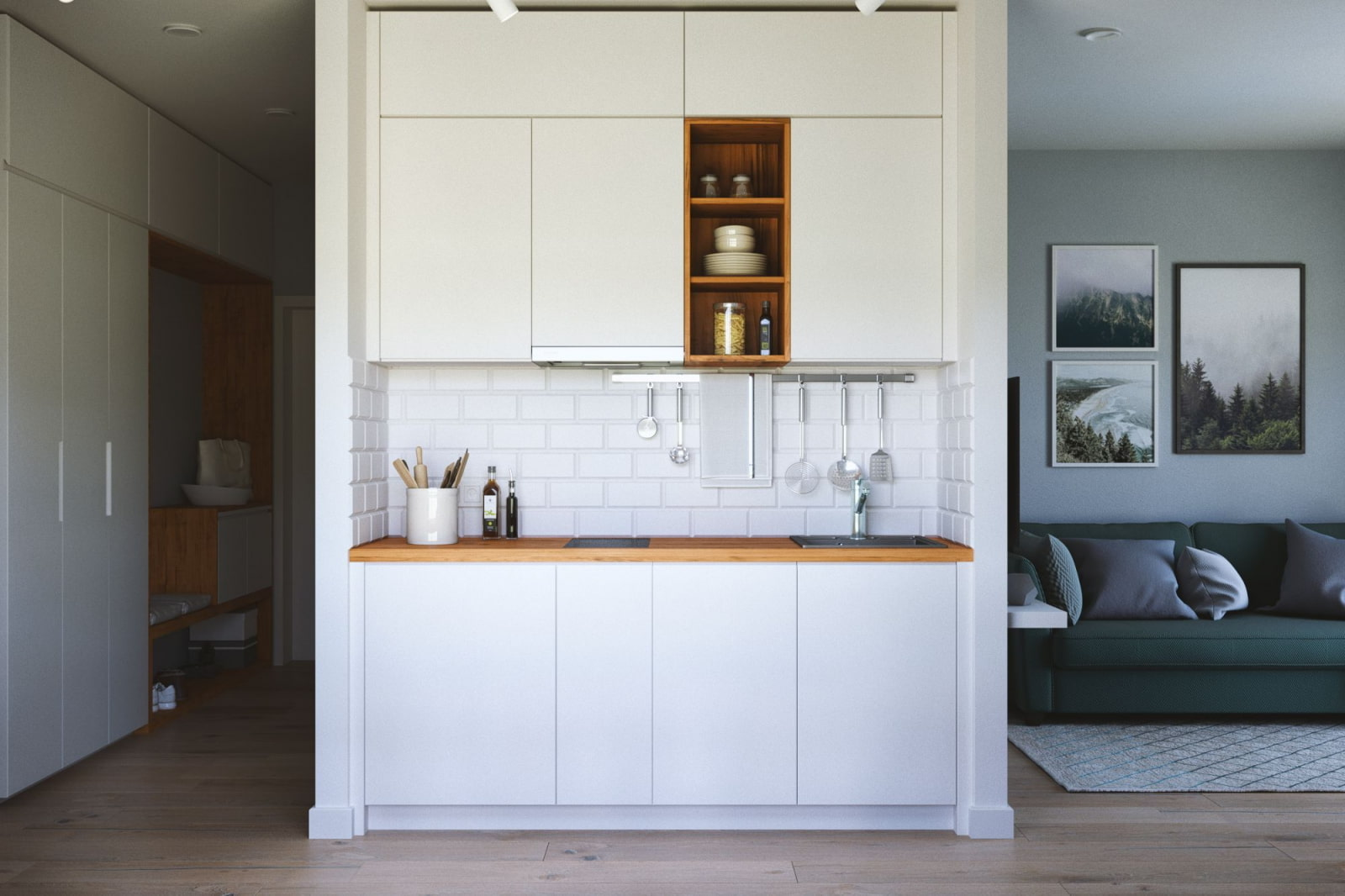 Нестандартные кухни фото дизайн с нишей