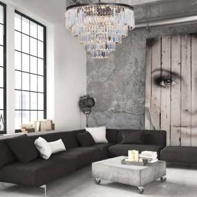 Фотообои на обшарпанной стене серого цвета