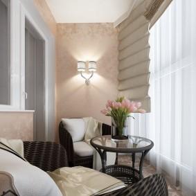 Место для летнего отдыха на балконе квартиры
