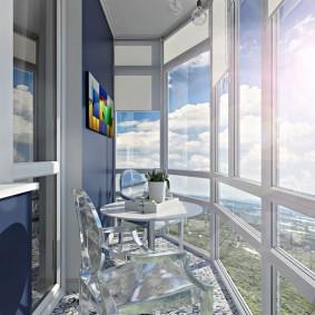 Дизайн балкона с французскими окнами