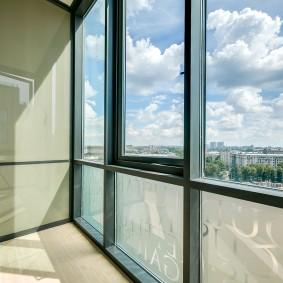 Металлические рамы панорамного окна