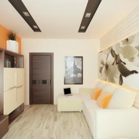 Белый диван в современной гостиной