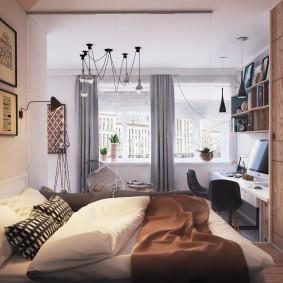 Рабочий кабинет в спальной комнате
