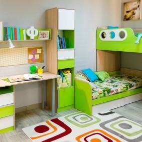 Мебель в комнате мальчиков дошкольного возраста