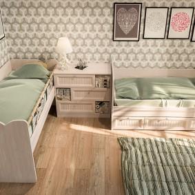 Расстановка кроватей в комнате детей дошкольного возраста