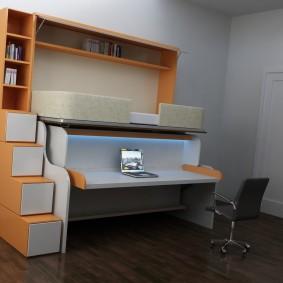 Кровать-трансформер с рабочим столом