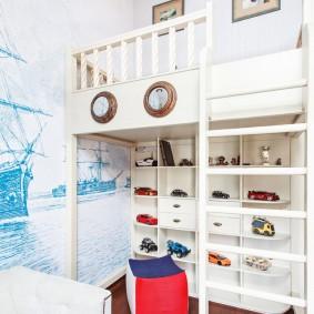 Двухъярусная мебель в морском стиле