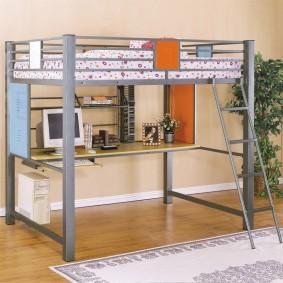 Современная модель кровати-чердака в детскую