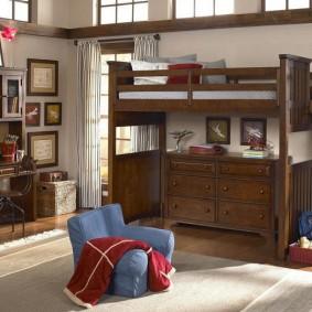 Мебель из натурального дерева для детской