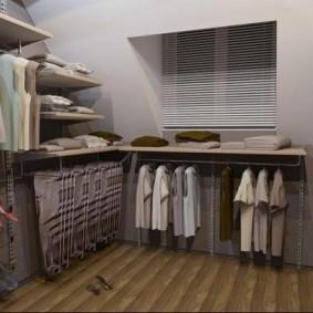 Пример обустройства гардеробной в спальне подростка