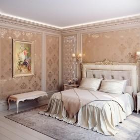 Ковер в интерьере небольшой спальни