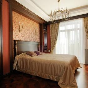 Оформление интерьера спальни в коричневых тонах