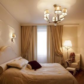 Бежевые оттенки в дизайне спальни