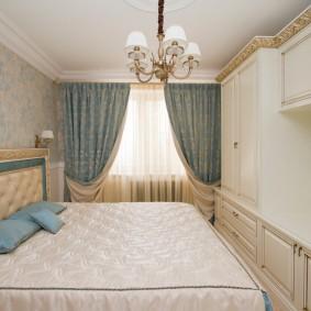 Мебель в спальне маленькой площади