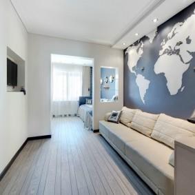 Зонирование перегородкой комнаты для подростка
