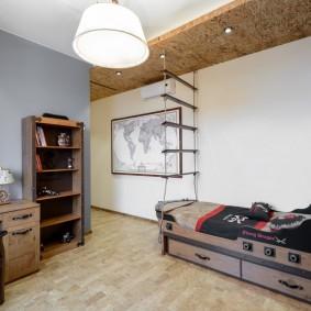 Просторная комната в морской стилистике