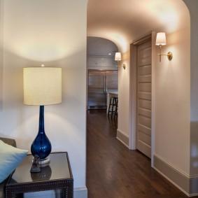 Освещение коридора с арочным потолком