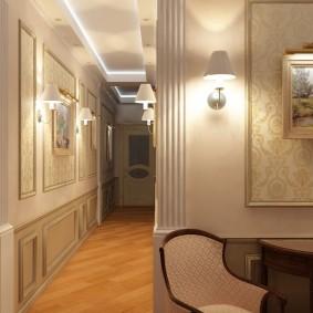 Освещение коридора в неоклассическом стиле
