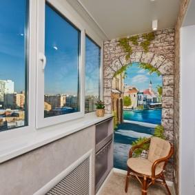 Теплое остекление балкона ПВХ-окнами