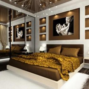 Декоративные ниши в дизайне спальни