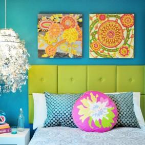 Модный цвет стен в интерьере спальни