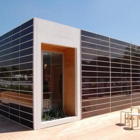Прямоугольный дом в современном стиле