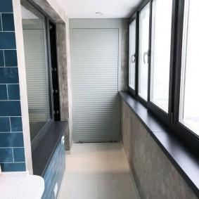 Отделка балкона керамической плиткой