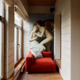 Живопись в интерьере современной лоджии