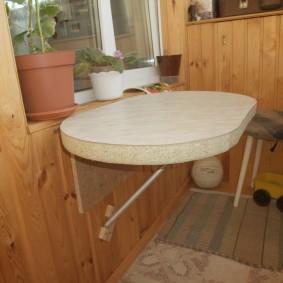 Откидной столик из толстой ДСП своими руками
