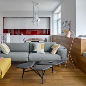 Место для отдыха в гостиной частного дома