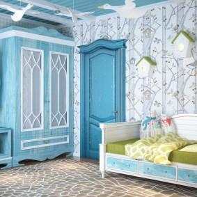 Голубые оттенки в интерьере прованского стиля