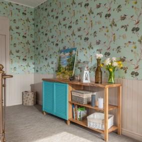 Бумажные обои в комнате прованского стиля