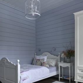 Отделка детской комнаты деревянной вагонкой