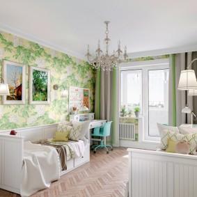 Расстановка мебели в комнате для двух девочек
