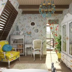 Дизайн детской комнаты в деревенском доме