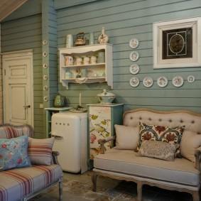 Обшивка вагонкой комнаты в стиле прованс