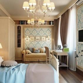 Расстановка мебели в спалье трехкомнатной квартиры