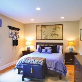 Освещение спальни в частном доме
