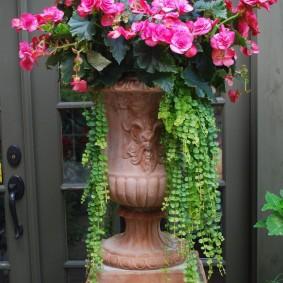 Шикарный вазон на высокой подставке