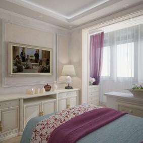 Декор картиной интерьера спальной комнаты