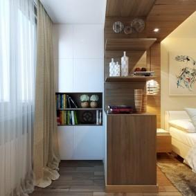 Встроенные шкафы на утепленном балконе