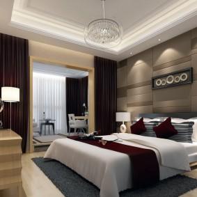 Светодиодная подсветка потолка в спальне с лоджией