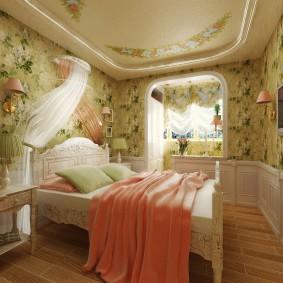 Романтический интерьер спальни в стиле прованс