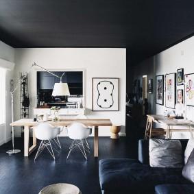 Контрастный интерьер современной квартиры