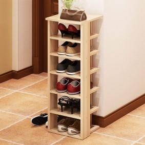 Обувница-стойка с открытыми полками