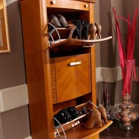 Стильный шкаф для аккуратного хранения обуви