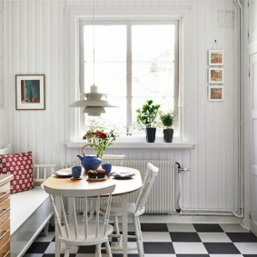 Белая вагонка в комнате скандинавского стиля